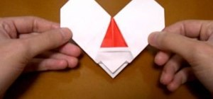 Origami a Santa and heart