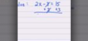 Solve a linear equation for x in algebra