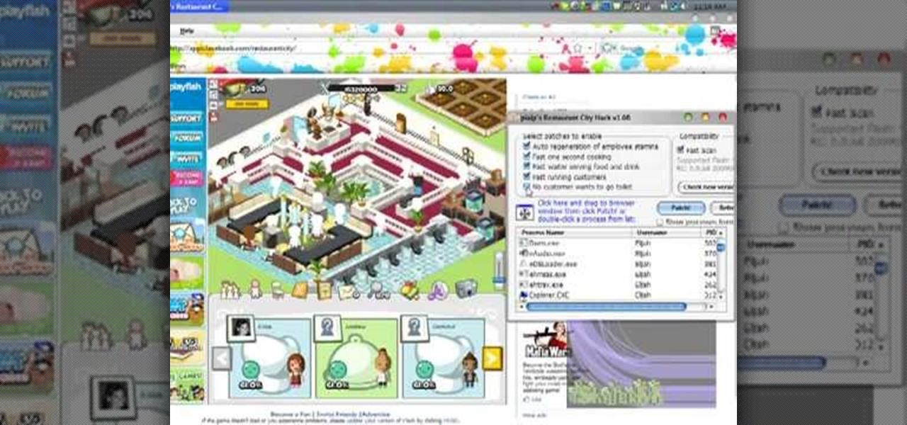 How Hack Restaurant City Web Games