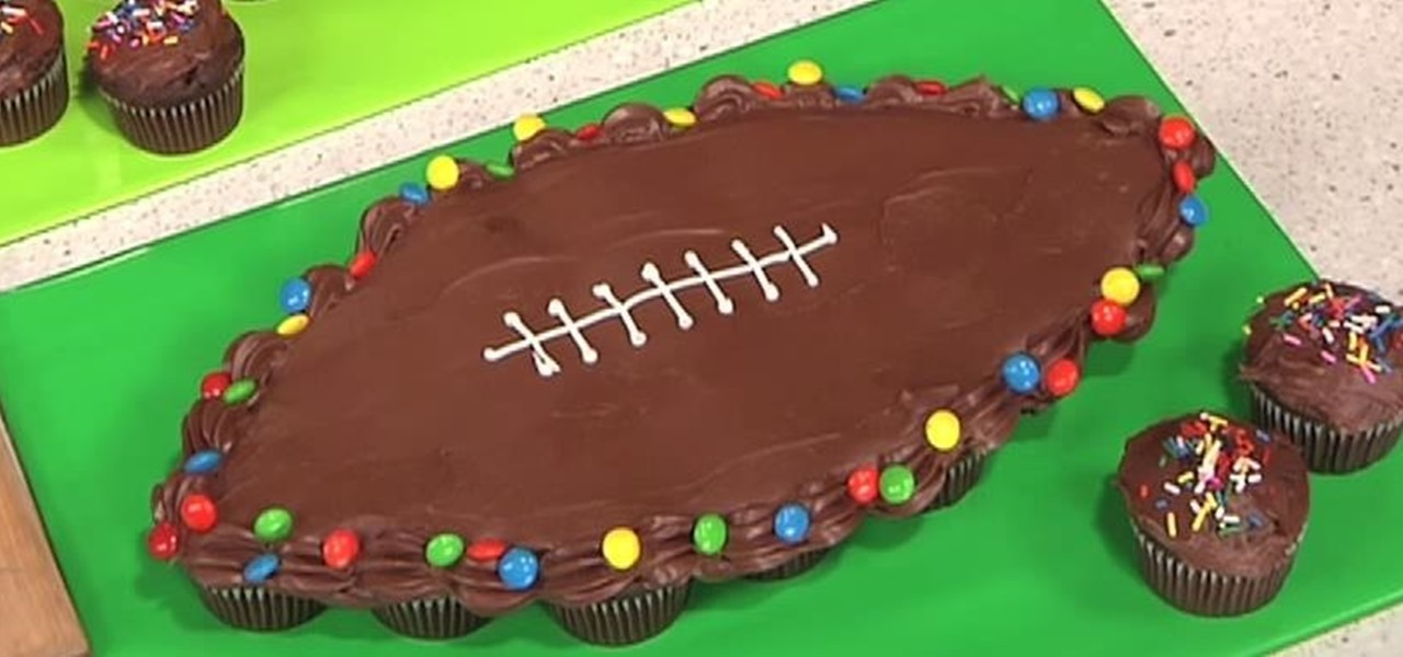 Make a Football-Shaped Pull-Apart Cake