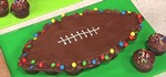 How to Make a Football-Shaped Pull-Apart Cake