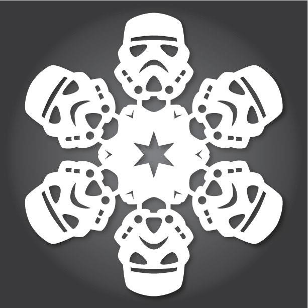 60+ Free Paper Snowflake Templates—Star Wars Style!