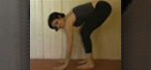 Do a yoga arm balance crow pose