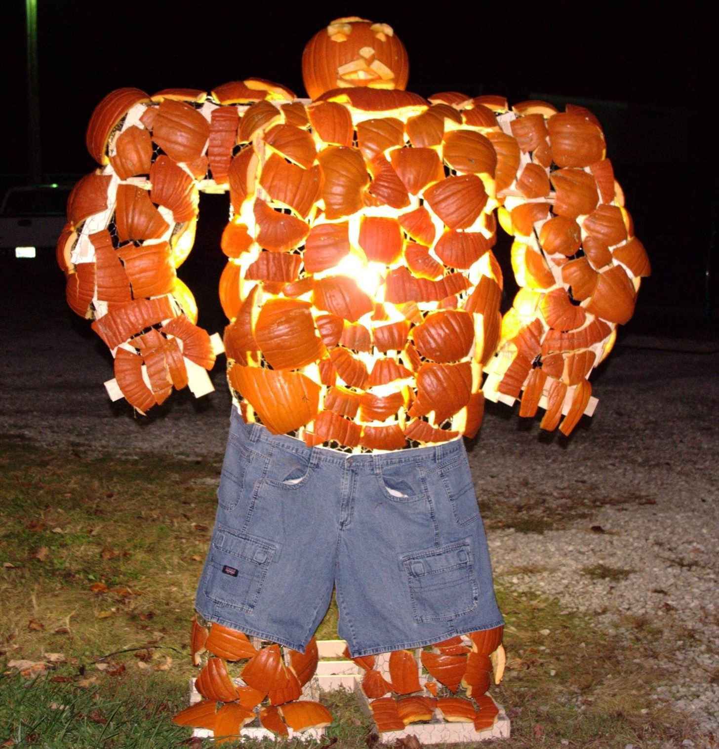 "The Thing-O'-Lantern: How to Build the Fantastic Four's ""Thing"" Out of Smashed Up Pumpkins"