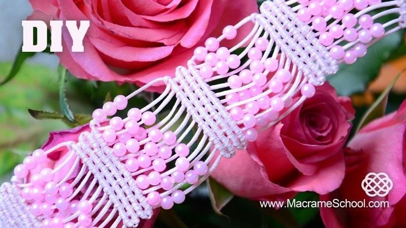 DIY Beaded Macrame Bracelet Easy