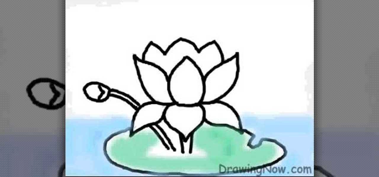 How To Draw A Lotus Flower On A Computer Drawing Illustration
