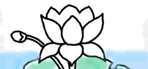 How to draw a lotus flower on a computer drawing illustration draw a lotus flower on a computer mightylinksfo
