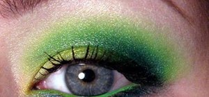 Create a sea dragon eye makeup look