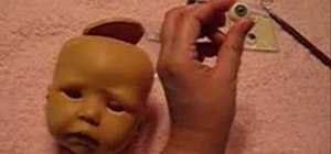 Set eyes into a reborn baby doll