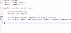 Make a JComboBox for Java programming