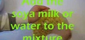 Bake a vegan sponge cake