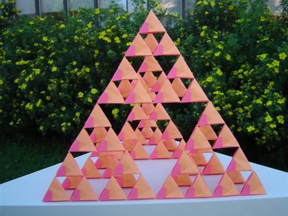 Origami Sierpinski Tetrahedron Constructed with 250+ Modules