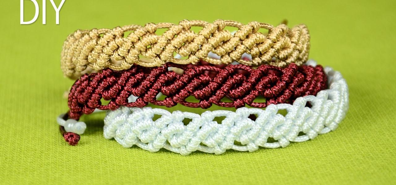 Make Wavy Macrame Bracelets