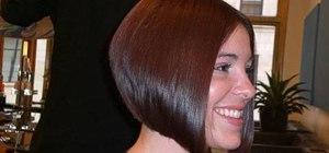 Style a sleek A-line bob haircut