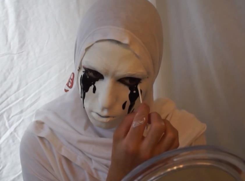 AHS Asylum: How to Make a Crying White Nun Costume for Halloween