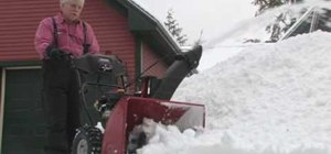 Use a Craftsman snowblower