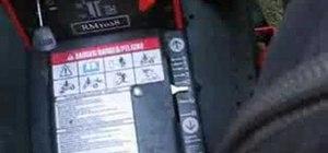 Operate an Ariens rear engine rider lawnmower