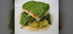Make lemon and parsley crusted hake fish