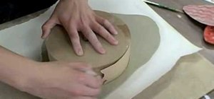 Make a ceramic slab plate
