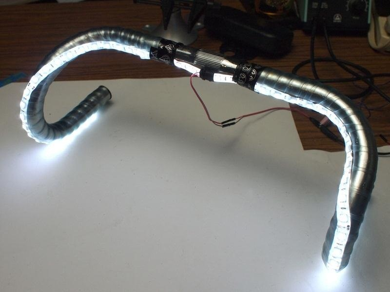 Make the Most Brilliant Bike Light Ever with This LED Handlebar Mod