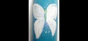 Paint nails with a butterfly design