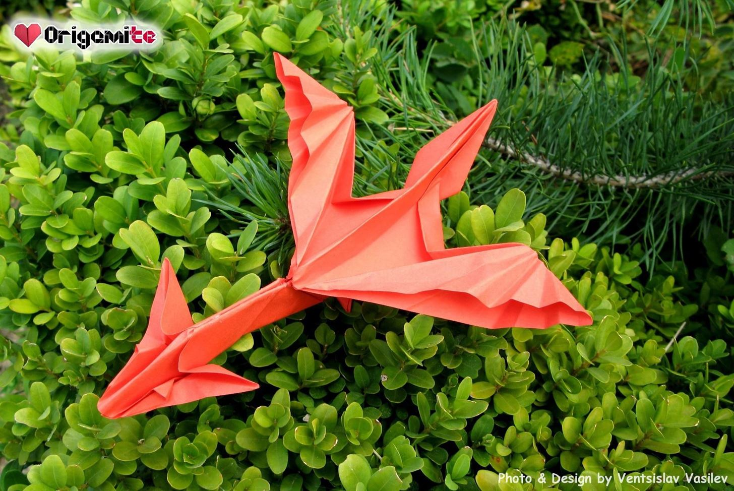 Origami Red Dragonfly | Origami insects, Origami dragon, Origami easy | 974x1456