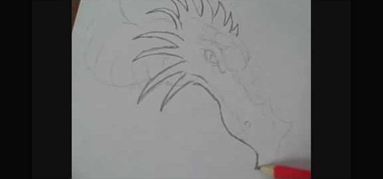 how to draw a simple dragons head in a few easy steps