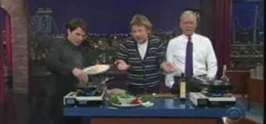 Make a seafood dish with Jamie Oliver & Tom Cruise