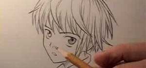 Draw a boy or male teenager in the manga style