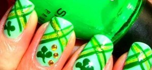 Paint St. Patrick's Day nail art