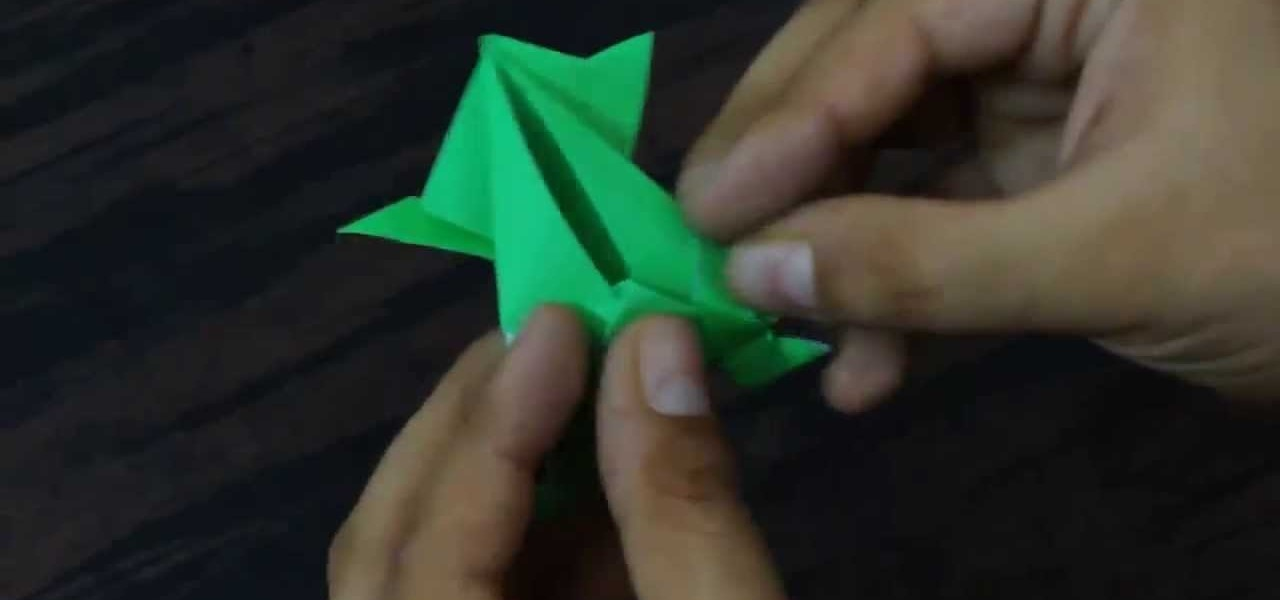 Create an Origami Jumping Frog