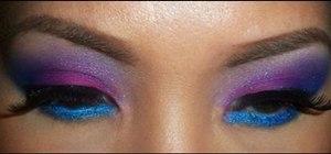 Create a bright rainbow eye makeup look