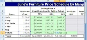 Find sales price given cost & sales markup in MS Excel
