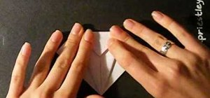 Fold a traditional origami paper crane