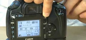 Control shutter speed and aperture settings on a Canon EOS DSLR camera