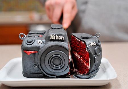 Fondant Facsimile of a Nikon Camera