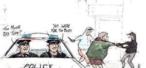 Car theft...  Not