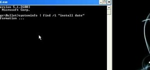 Find an operating system's original install date