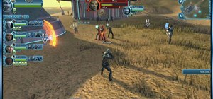 Command an Away Team during combat in Star Trek Online