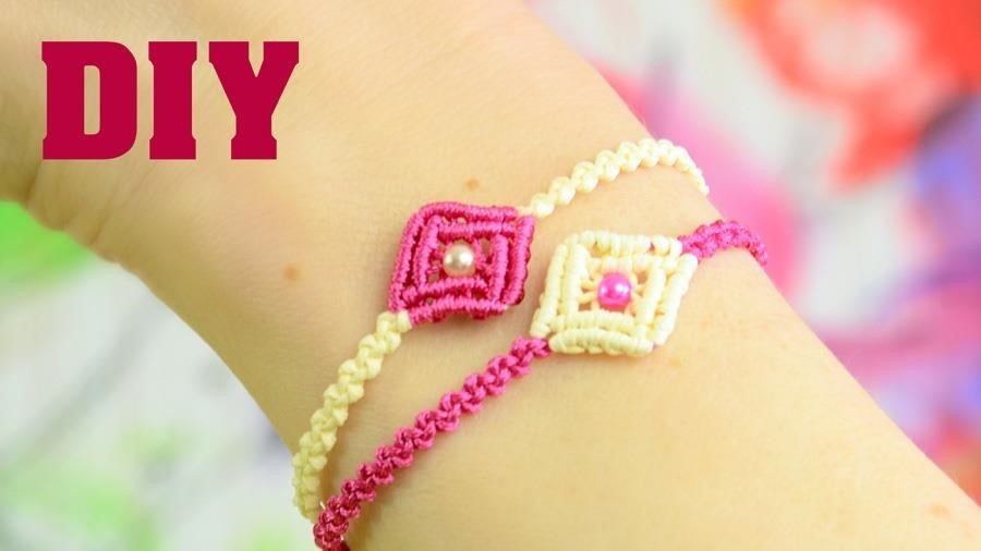 DIY Easy Macrame Square Bracelet