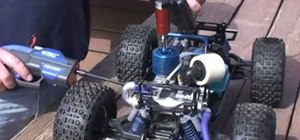 Start a nitro engine on a remote control car