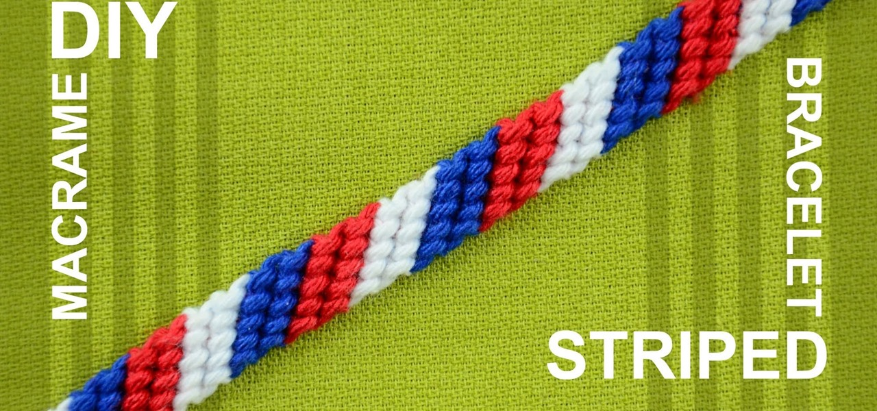 Make a Candy Stripe Friendship Bracelet