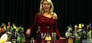 Mix a Godfather cocktail with Scotch and amaretto
