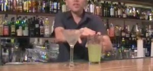 Make a perfect green apple martini