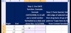 Convert integers to dates with Excel's DATE function
