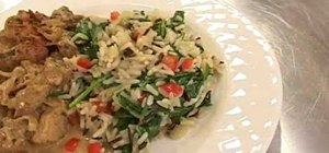 Make braised wild rice