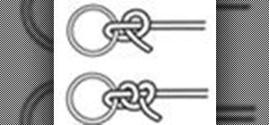 Tie a Half-Hitch knot or Double Half-Hitch knot