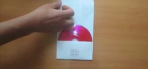 Create a CD cover with a sheet of paper