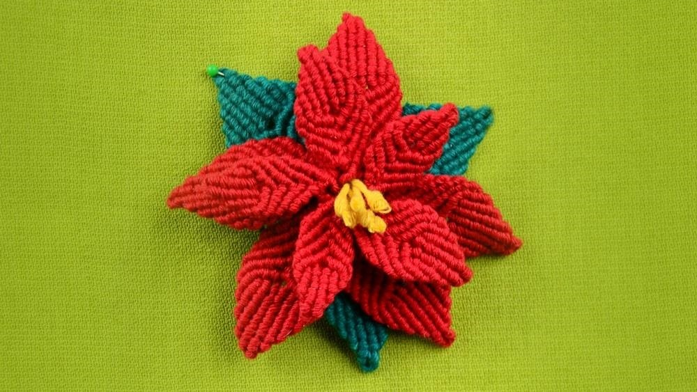How to Make Christmas Flower - Poinsettia