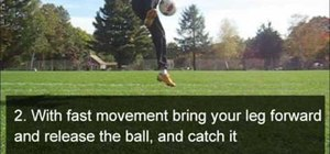 Do the Front Catch freestyle soccer trick